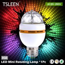 whole new e27 3w colorful auto rotating lampada 85 260v bulb stage light party lamp disco mini rgb led nightlight tsleen e27 3w party lamp 3w