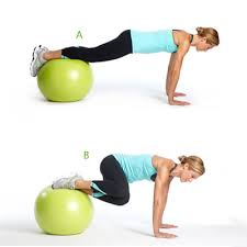 Image result for stability ball knee tuck