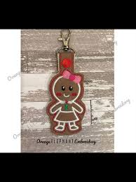 Orange Elephant Embroidery Designs Gingerbread Girl 2snap Tab Snap Tabs Machine Embroidery