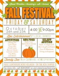 Fall Festival Flier Christian Academys 14th Annual Fall Festival In 2019 Fall