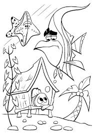 Nemo Coloring Simple Finding Coloring Page Finding Nemo Coloring