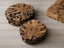 elite to be kobe round coffee table round coffee table in solid teak root
