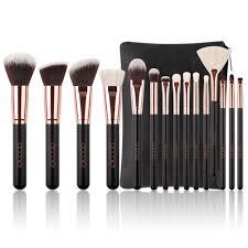 docolor 15pcs professional makeup brushes kit set foundation blending cosmetic case walmart