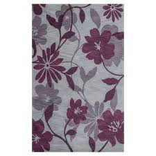 kas rugs summer rays grey plum 5 ft x 8 ft area rug