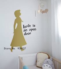 charming ideas frozen wall decor new trends 3d stickers home living room diy princess queen animals