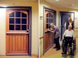 exterior door stickers. truedoors door stickers customized 5 company creates to make assisted living residents feel exterior