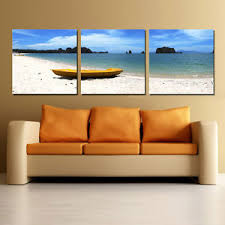 image is loading beach seascape ready 2 hang 3 panel wall  on 3 panel wall art beach with beach seascape ready 2 hang 3 panel wall art mounted canvas