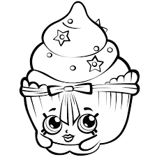 Shopkins Coloring Pages Cake Coloring Newest Games