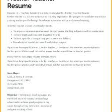 sample resume for a teacher sample resume for kindergarten teacher fresher teachers preschool