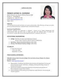 Resume Format Examples For Job Tomyumtumweb Com