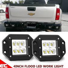 Chevy Silverado Security Light Details About 4 Led Light Flush Mount Reverse Rear Bumper For Chevy Silverado 1500 2500 3500