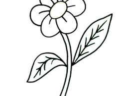 Disegno Di Fiore Con Foglie Da Colorare Per Bambini Con Fiori