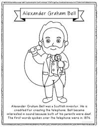 Alexander Graham Bell Coloring Page Craft Or Poster Stem Technology