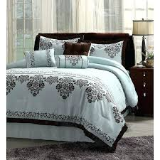 blue and brown bedspreads blue bedrooms a chocolate brown bedding