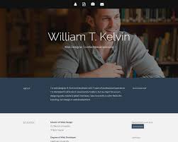 Kelvin Bootstrap Resume Template Templatemag