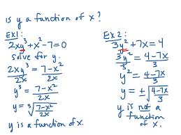 determining whether an equation represents y as a function of x math showme