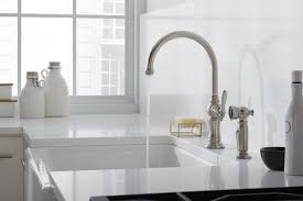 Kohler Brass Kitchen Faucet Kitchen Elegant Kohler Kitchen Faucets For Inspiring Your Kitchen
