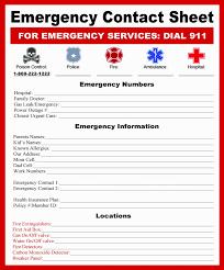 Emergency Card Template Emergency Telephone Tree Template And New Emergency Card Template