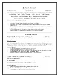 Sample Resume For Credit Manager Collection Officer Resume Debt Collector Foodcityme Top Credit 19