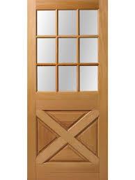exterior fir crossbuck 9 lite door 6 8 height 1 3 4 thick single door by rouge valley exterior