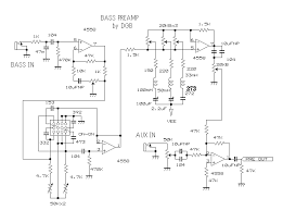 guitar amp bass preamp circuit diagram