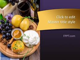 Free Food Powerpoint Templates Free Finger Food Powerpoint Template Powerpoint Templates