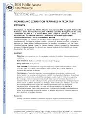 Pdf Weaning And Extubation Readiness In Pediatric Patients