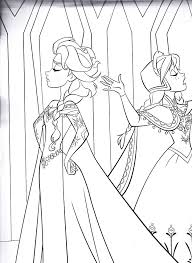 Fresh Frozen Elsa And Anna Coloring Pages Nichome