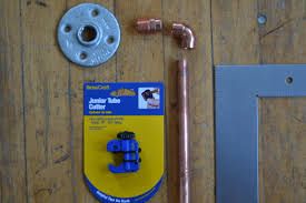 Copper Curtain Rod How To Make A Curtain Rod From Copper Plumbers Pipe The Vintage