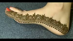 Feet Design Beautiful Mehndi Design For Edge Of Feet Ll Easy Feet Mehndi Design For Beginners