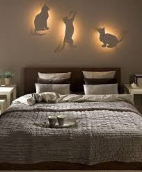 lighting for bedrooms ideas. Diy Bedroom Lighting Decor Idea Indirect Cat Silhouettes For Bedrooms Ideas