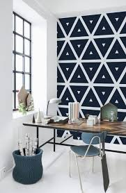 wallpaper for home office. Black And White Geometric Print Wallpaper To Make Your Home Office Eye-catchy For A