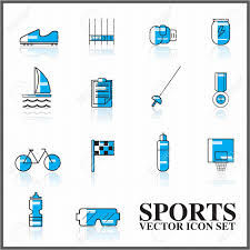 Two Tone Icons Sports Vector Icons Set Outline Twotone Big Set Royalty Free