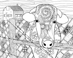 See actions taken by the people who manage and post content. Cow Coloring Page For Grown Ups Cow Coloring Pages Farm Animal Coloring Pages Abstract Coloring Pages