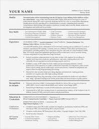 Resume Templates For Veterans Lcysne Com