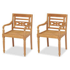 vidaXL <b>Batavia Chairs 2 pcs</b> Solid Teak Wood– House of Isabella AU