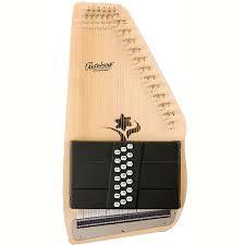 New Oscar Schmidt Os45ce Appalachian 21 Chord Acoustic Electric Autoharp Natural