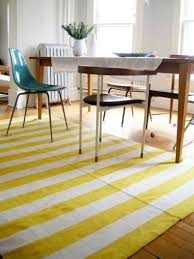 beautiful yellow and white area rug for your floor decoration best yellow and white stripe