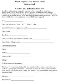 how to properly craft a credit card authorization form credit card authorization order form sample