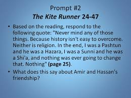 daily reflection prompt ppt video online  prompt 2 the kite runner 24 47