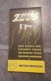 Zeus Precision Engineers Metric Data Book Chart Charts