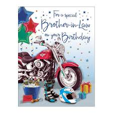 birthday cards male brother in law vine motorbike gifts colmanwhole co uk