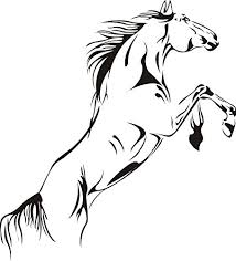 main image on horse wall art decal with sworna animal series a running pale horse removable vinyl wall art