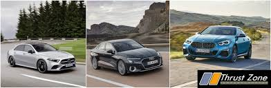 It's the way we used to draw cars when we were children: Bmw 2 Series Gran Coupe Vs Mercedes Benz A Class Limousine Vs Audi A3 Specifications Comparo