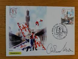 Presentato il francobollo e l'annullo filatelico dei Bandierai degli Uffizi