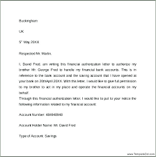 Template Authorization Letter Credit Card New Third Party