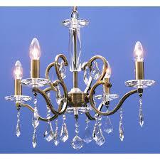 Fantastic Lighting Fantastic Lighting 620 4 Tarlini 4 Light Chandelier In Antique Brass Finish