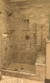 Walk In Tile Shower Stone Tile Walk In Shower Design Kenwood Kitchens In Columbia