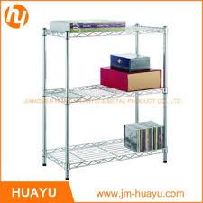 adjule black silver white 3 tier wire shelving unit