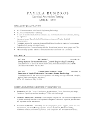 P A M E L A B U N D R O S Electrical Assembler/Testing (208) 201-0570  SUMMARY OF QUALIFICATIONS  A.A.S. ...